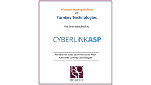 rosebiz inc turnkey technologies mergers acquisition ma